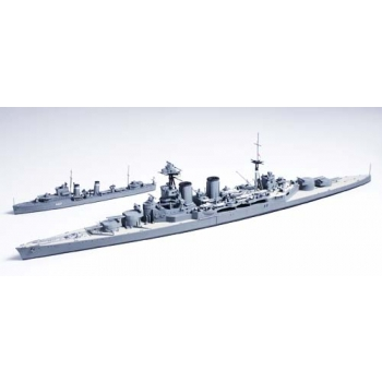 1/700 TAMIYA British battle cruiser Hood and E Class destroyer