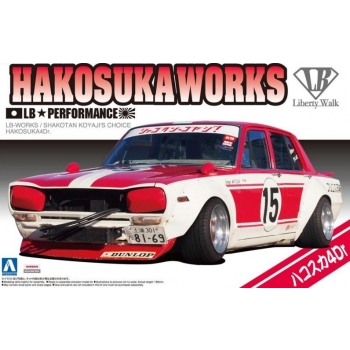 1/24 AOSHIMA Liberty Walk SP Shakotan Koyaji Official Recognition Skyline Hakosuka Works