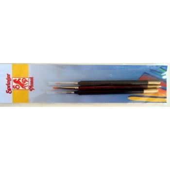 Pintslikomplekt Springer 3tk. 3/0, 1, 4