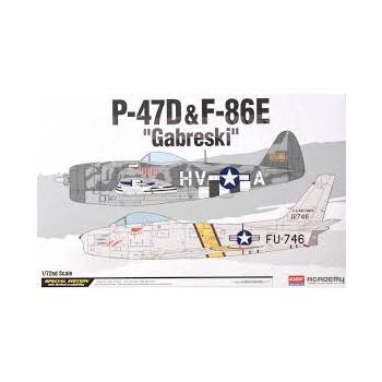"""/72 ACADEMY P-47D & F-86E """"GABRESKI"""" LIM.ED"""