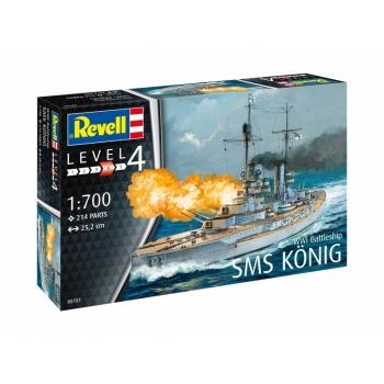 1/700 REVELL WWI Battleship SMS KÖNIG