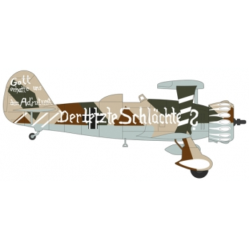 1/72 Henschel 123A, Lt. Hamann, 3./Schlachtfliegergruppe 50 (without Swastika) Oxford Aviation