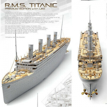 1/400 ACADEMY Titanic (Photo etch, wooden deck, brass details)