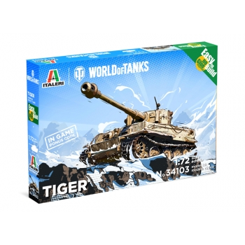 1/72 ITALERI TIGER - WoT - Easy to Build