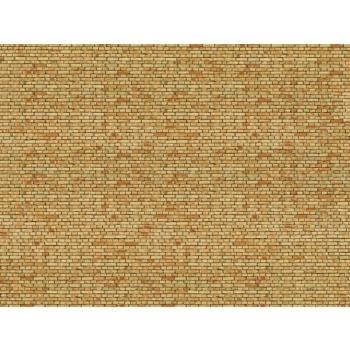 Noch kartongist tekstuurplaat Kollane klinker 25 x 12.5cm