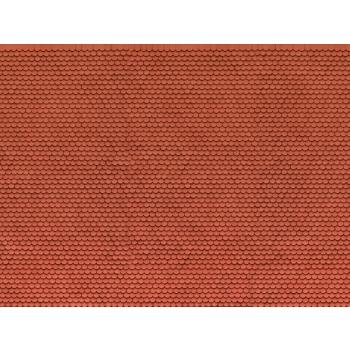 Noch kartongist tekstuurplaat Punane katusekivi v2 25 x 12.5cm