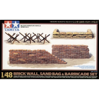 1/48 TAMIYA WWII Diorama-Set Brick Wall&Sandbag