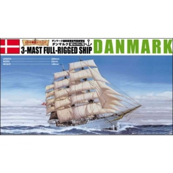 1/350 AOSHIMA 3-Mast Full-Rigged Ship Danmark