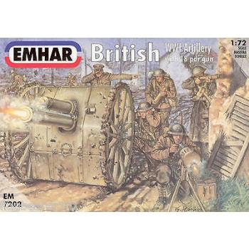 1/72 EMHAR British Artillery WW I Figures & 18 pdr Gun