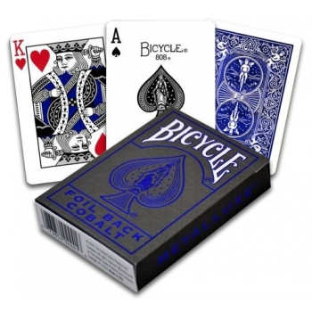 Pokercards Metallux Blue Bicycle