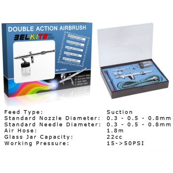 Suction Feed Airbrush - Double Action Belkits