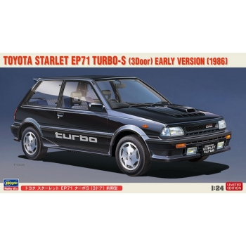 1/24 Hasegawa Toyota Starlet EP71 Turbo-S (3door) Early Version (1986)