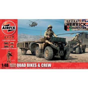 1/48 AIRFIX BRITISH QUAD BIKES AND CREW