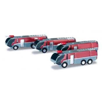 1/500 Airport accessories fire engine set Content: 4 pieces