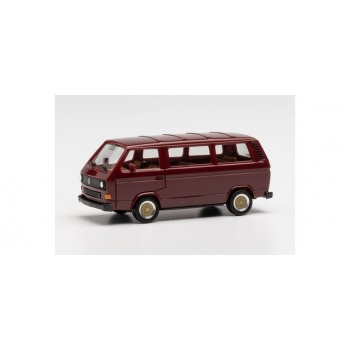 1/87 H0 Herpa VW T3 Bus with BBS wheels, wine red