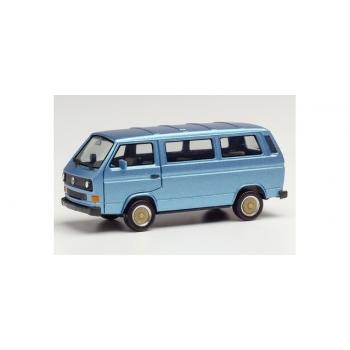 1/87 H0 Herpa VW T3 Bus with BBS wheels, blue metallic
