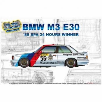 1/24 NUNU BMW M3 E30 '88 Spa 24H Winner