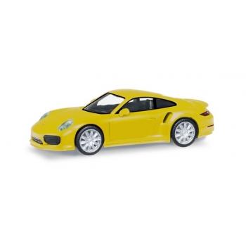1/87 HERPA Porsche 911 Turbo, racing yellow
