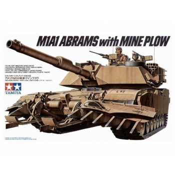 TA35158 - 1/35 Tamiya U.S. M1A1 Abrams miinisahaga