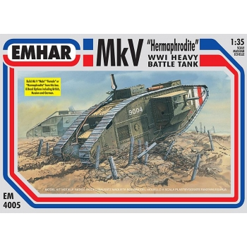 "1/35 EMHAR WWI Mk V TANK inc ""Male"" & ""Female"" & Hermaphrodite Versions"