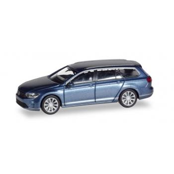 1/87 VW Passat Variant GTE E-Hybrid, havardblue metallic Herpa