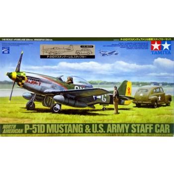 1/48 North American P-51D Mustang & US Army Staff Ca, Tamiya r