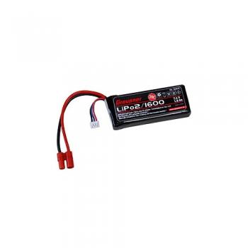 LiPo Aku 2S/1600mAh 7.4V 20C Graupner XT 3.5mm60