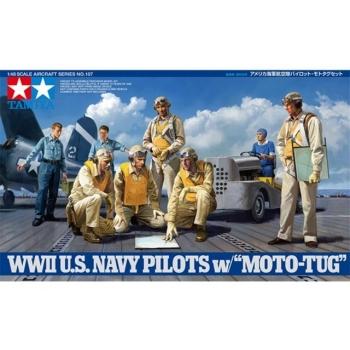 1/48 TAMIYA WWII U.S. Navy Pilots w/Moto-Tug