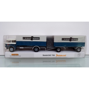 1/87 LIAZ 706 Pnemuant flatbed platform trailer cover-HZ Brekina