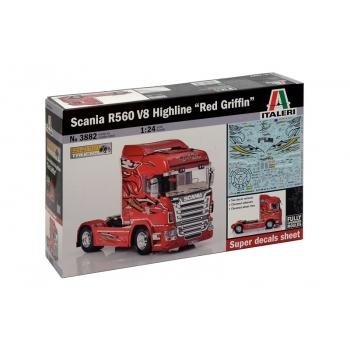 1/24 ITALERI Scania R560 V8 Highline''Red Griffin''