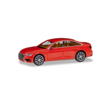 1/87 Audi A6 ® Limousine, flame red, with two-color rims HERPA