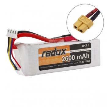 LiPo Aku 3S 11.1V 2600 mAh 50C REDOX