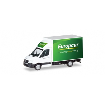 "1/87 Mercedes-Benz Sprinter with box ""Europcar"" Herpa"