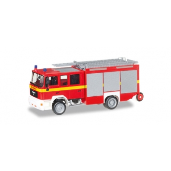 "1/87 MAN M 2000 fire truck HLF 20 ""fire department"" Herpa"