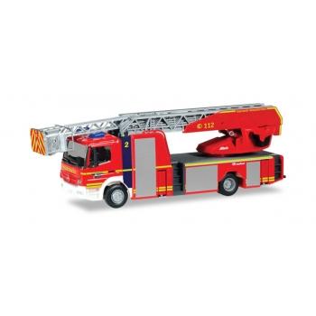 """1/87  Mercedes-Benz Atego Rosenbauer turnable ladder truck """"Gelsenkirchen Fire Department"""" Herpa"""