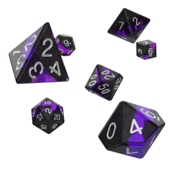 Oakie Doakie Dice RPG Set Enclave - Amethyst (7)
