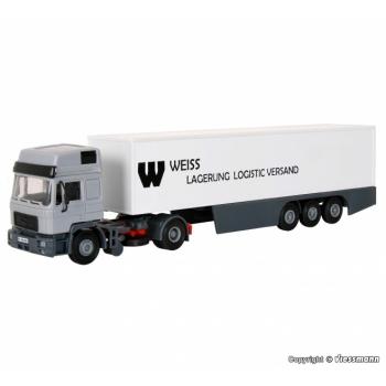 """1/87 H0 saduleveok MAN HD haagisega """"Weiss"""" Kibri"""