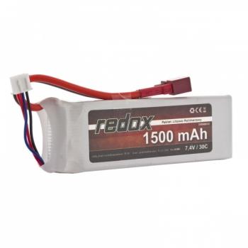 LiPo Aku 2S 7.4V 1500 mAh 30C REDOX