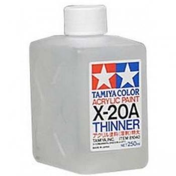 Tamiya akrüülilahusti X-20A (250 ml)Thinner