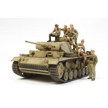 1/35 TAMIYA Panzerkampfwagen III w/Rommel and tank crew SET