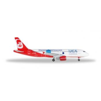 "1/500 Airberlin Airbus A320 ""Discover America"" Herpa"