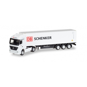 """1/120 Mercedes-Benz Actros LH container semitrailer """"DB Schenker"""" HERPA"""