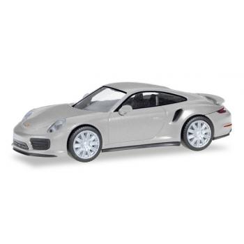 1/87 Porsche 911 Turbo, rhodium silver metallic HERPA