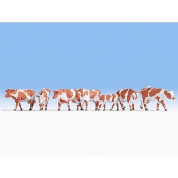 """Figuurid """" Pruuni-valged lehmad"""" 1/87"""