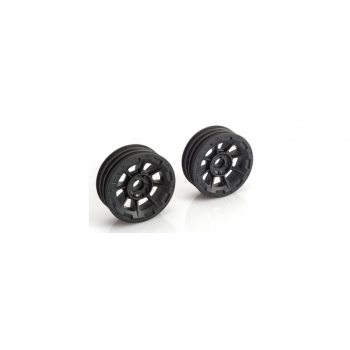 Hazard - 1.9 RC10 front wheel - black (flanged bearing fit)