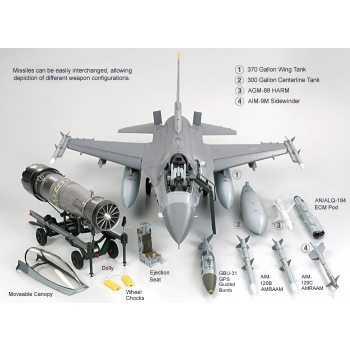 1/32 TAMIYA FIGHTING FALCON F-16C