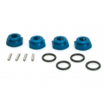 Aluminium Wheel-Adapter blue (4pcs) - S10 Twister