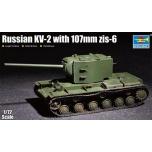 1/72 TRUMPETER Russian Kv-2 W/107mm Zis-6