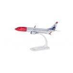 """1/200 - Norwegian Air Shuttle Boeing 737 MAX 8 - EI-FYA """"Sir Freddie Laker"""" Snap-Fit"""