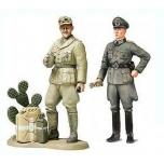 1/35 TAMIYA Wehrmacht Officer and Afrika Korps Tank Commander